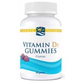 Vitamin D3 1000UI 60 gomitas Nordic Naturals